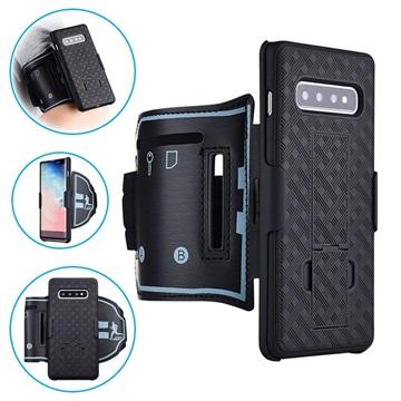 Bilde av 2-i-1 Avtakbart Samsung Galaxy S10 Sportsarmbånd - Svart