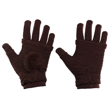 Bilde av 2-i-1 Håndvarmere og Vanter for Touch - Brun