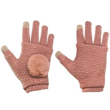 Bilde av 2-i-1 Håndvarmere Og Vanter For Touch - Rosa