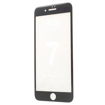 iPhone 7 Plus 4D Full Size Skjermbeskytter i Herdet Glass - Svart