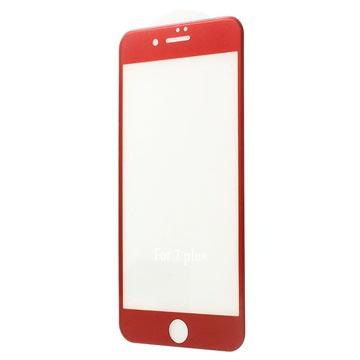 iPhone 7 Plus 4D Full Size Skjermbeskytter i Herdet Glass - Rød