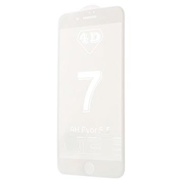 iPhone 7 Plus 4D Full Size Skjermbeskytter i Herdet Glass - Hvit