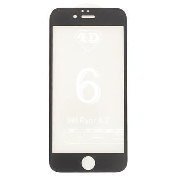 iPhone 6 Plus/6S Plus 4D Full Size Skjermbeskytter i Herdet Glass - Svart