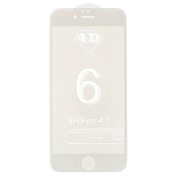 iPhone 6 Plus/6S Plus 4D Full Size Skjermbeskytter i Herdet Glass - Hvit