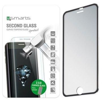 iPhone 6/6S 4smarts Colour Rim Glass Skjermbeskytter - Svart