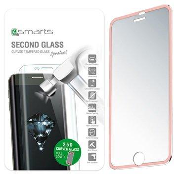 iPhone 6/6S 4smarts Colour Rim Glass Skjermbeskytter - Roségull