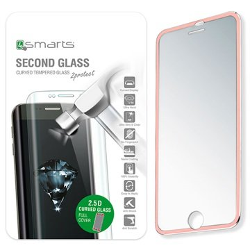 iPhone 7 4smarts Colour Rim Glass Skjermbeskyttelse - Roségull