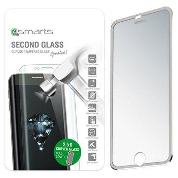 iPhone 7 4smarts Colour Rim Glass Skjermbeskyttelse - Sølv