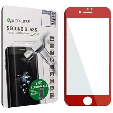 iPhone 7 4smarts Kurvet Glass Skjermbeskyttelse - Rød