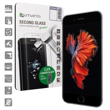 iPhone 6/6S 4smarts Kurvet Glass Skjermbeskyttelse - Svart