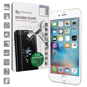 iPhone 6/6S 4smarts Kurvet Glass Skjermbeskyttelse - Hvit
