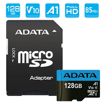 Adata Premier MicroSDXC UHS-I Minnekort AUSDX128GUICL10A1-RA1 - 128GB