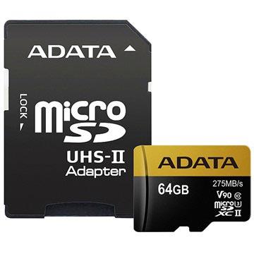 Adata Premier One MicroSDXC UHS-II Minnekort AUSDX64GUII3CL10-CA1 - 64GB
