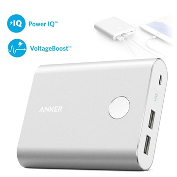 Anker PowerCore+ 13400mAh Quick Charge 3.0 Powerbank - Silver
