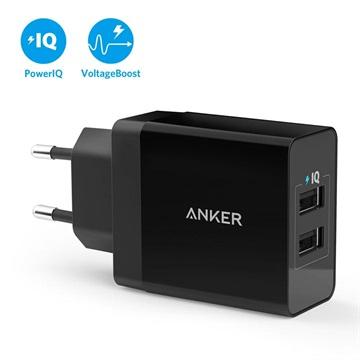 Bilde av Anker Powerport 2 Rask Vegglader - 2 X Usb, 24w - Svart