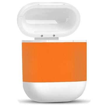 4smarts AirPods Trådløs Ladeboks - Oransje / Hvit