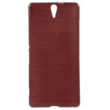 Sony Xperia C5 Ultra, Xperia C5 Ultra Dual Brushed TPU Deksel - Rød