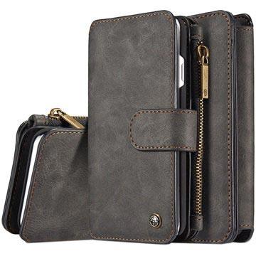 iPhone 7/iPhone 8 Caseme 2-i-1 lommebok-deksel med avtakbart deksel - svart