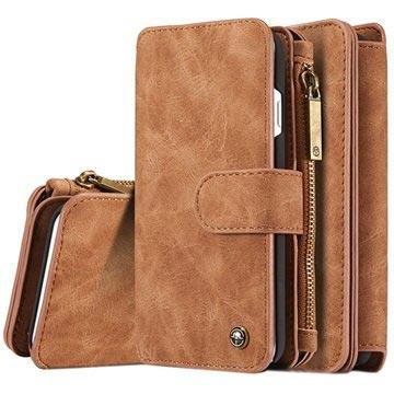 iPhone 7/iPhone 8 Caseme 2-i-1 lommebok-deksel med avtakbart deksel - brun