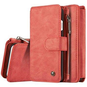 iPhone 7/iPhone 8 Caseme 2-i-1 lommebok-deksel med avtakbart deksel - rød