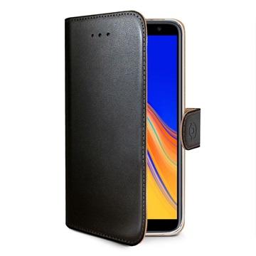 Celly Wally Samsung Galaxy J4+ Lommebok-deksel - Svart