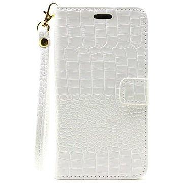 Samsung Galaxy C5 Crocodile Lommebok-Deksel - Hvit