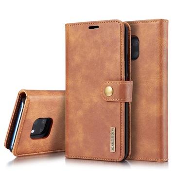 DG.Ming 2-i-1 Huawei Mate 20 Pro Avtakbart Lommebok-deksel I Lær - Brun
