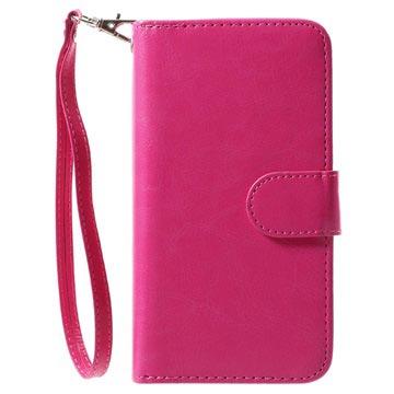 iPhone X Avtakbart 2-i-1 Lommebok-deksel - Varm Rosa
