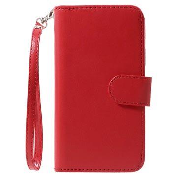 iPhone X Avtakbart 2-i-1 Lommebok-deksel - Rød