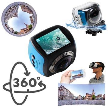 Discovery Adventures Territory 360° HD WiFi Actionkamera - Svart / Blå