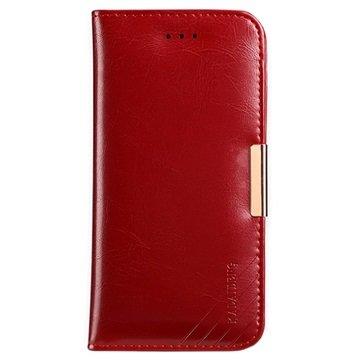 iPhone 7 Plus / iPhone 8 Plus Kalaideng Royale II Lommebok-deksel I Lær - Rød