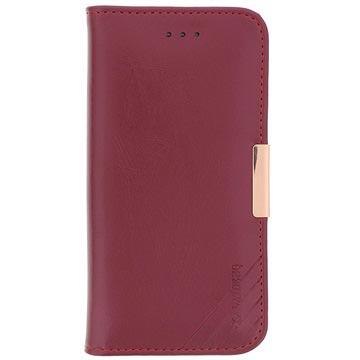 iPhone 7 / iPhone 8 Kalaideng Royale II Lommebok-deksel I Lær - Mørkrød