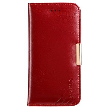 iPhone X Kalaideng Royal II Lommebok-deksel I Lær - Rød