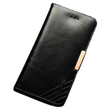 iPhone 6 / 6S Kalaideng Royale II Lommebok Lærveske - Svart