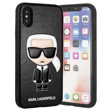 Karl Lagerfeld Ikonik iPhone X / iPhone XS Deksel - Svart