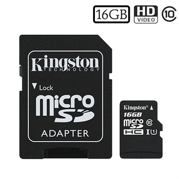 Kingston Canvas Select MicroSDHC Minnekort SDCS/16GB - 16GB