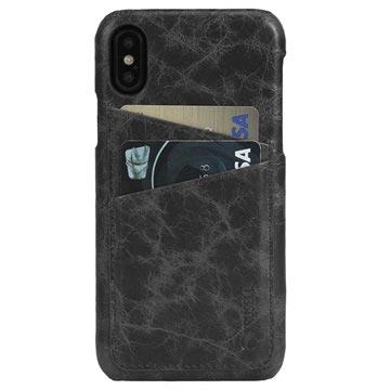 iPhone X Krusell Tumba 2 Card Lær Deksel - Svart