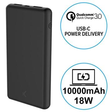 Ksix 10000mAh Quick Charge 3.0&USB-C PD Powerbank - 18W