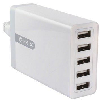 Ksix 5 USB-vegglader - Hvit