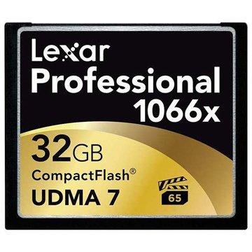 Lexar LCF32GCRBEU1066 Professional 1066x Compact Flash Minnekort - 32GB