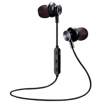 M6 Magnetiske Bluetooth I-ørene Trådløse Hodetelefoner - Svarte