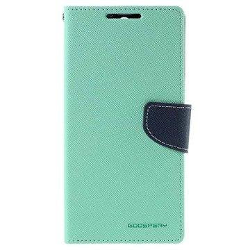 Sony Xperia C5 Ultra Mercury Goospery Fancy Diary Lommebokveske - Cyan / Mørkeblå
