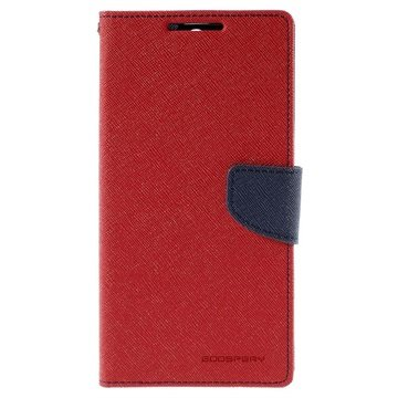 Sony Xperia C5 Ultra Mercury Goospery Fancy Diary Lommebokveske - Rød / Mørkeblå