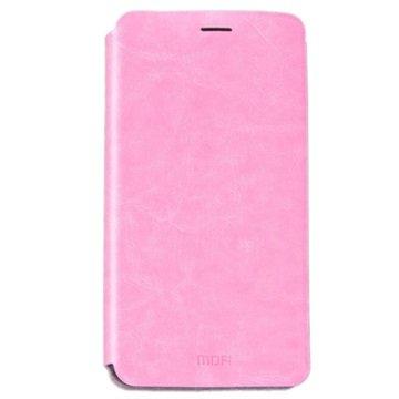 Samsung Galaxy C5 Mofi Rui Flip-deksel - Rosa
