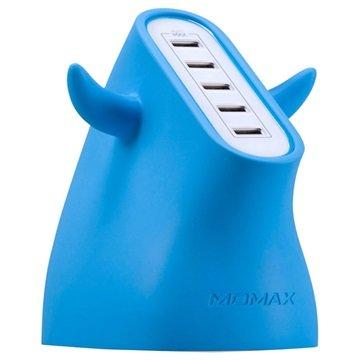 Momax U.Bull Ultra Fast USB Lader - 5-Port - Blå