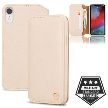 Moshi Overture iPhone XR Lommebok-deksel I Lær - Beige