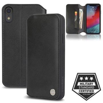 Moshi Overture iPhone XR Lommebok-deksel I Lær - Svart
