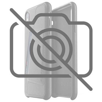 Mujjo iPhone XS Plus Lommebok Deksel i Skinn - Svart