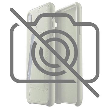 Mujjo iPhone XS Plus Lommebok Deksel i Skinn - Olivengrønn