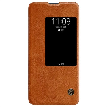 Nillkin Qin View Series Huawei Mate 20 X Flip-deksel - Brun